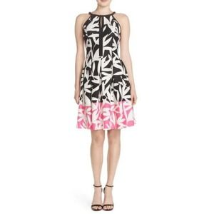 📁Vince Camuto Scuba Floral Fit & Flare Dress NWT